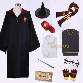Potter College Gryffindor Uniform Hermione Granger Cosplay Costume Adult Kids Version Halloween Party Robe Suit New Gift