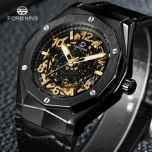 Men Watch Skeleton FORSINING Automatic Mechanical Luxury Brand Strap Sport-Clock Relogio