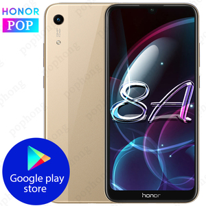 Image 1 - Global Firmware HONOR 8A Mobile phone 6.09 inch 3GB 32GB MTK6765 Octa Core Android 9.0 3020mAh Face unlock 1560x720