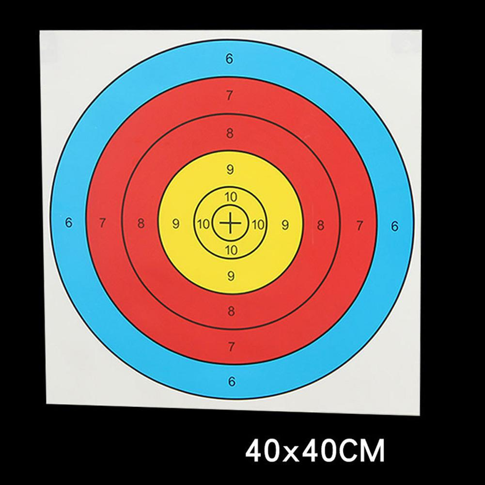 50PCS Shooting Target Paper 40*40cm Standard Archery Bow Spot Shooting Aim Training Paper On For Bow Arrow Shooting Target Pape