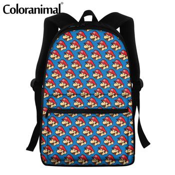 Coloranimal 2020 Japanese Anime Mario Design School Bags For Teenger Girls Boys Casual Backpacks Large Scool Bag Men Satchel 16