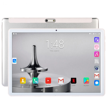 Tablets New 10.1 inch Tablet Android Octa Core 3G/4G Phone Call 4GB/64GB ROM Bluetooth 4.0 Wi-FI 2.5D Steel Screen Tablet PC