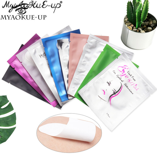 Hot 50pairs Eyelash Extension Paper Patches Grafted Eye Stickers 11 Color Eyelash Under Eye Pads Eye Paper Patches Tips Sticker 1