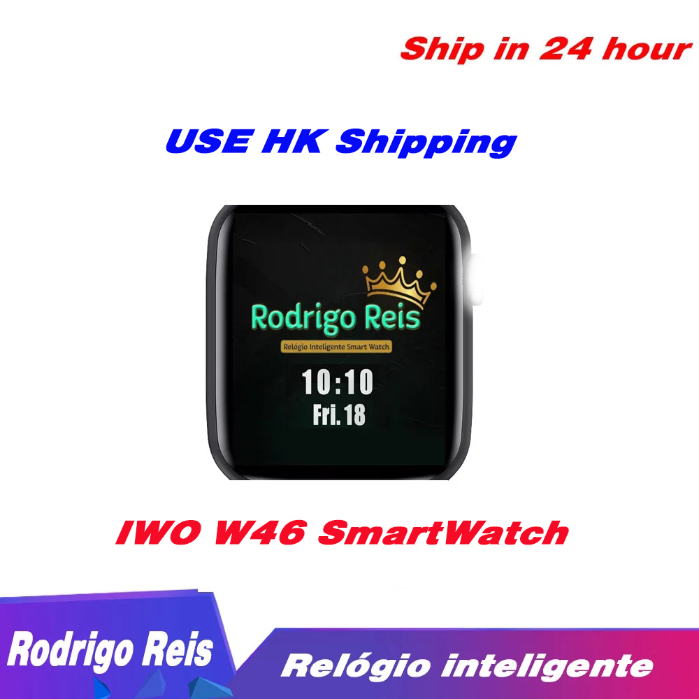 Rodrigo Reis IWO W46 Smart Watch DIY Watch Face 1 75inch Infinite Screen Waterproof Heart Rate ECG Sport Band For IOS Android