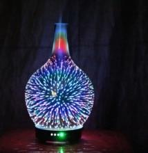 Diffuseur dhuile essentielle et darôme 3D, Vase en verre, 7 couleurs, pour aromathérapie, changement et arôme, humidificateur de brume fraîche à fermeture automatique sans eau