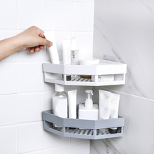 Corner Drain Shelves Bathroom Storage Rack Punch-Free Strong Wall Suction Shelf AIA99