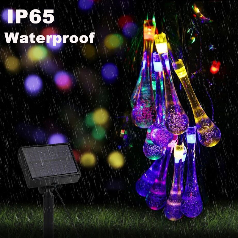 20/30LED Solar Light String Outdoor Waterproof Decorative Light for Wedding Birthday Home Decoration