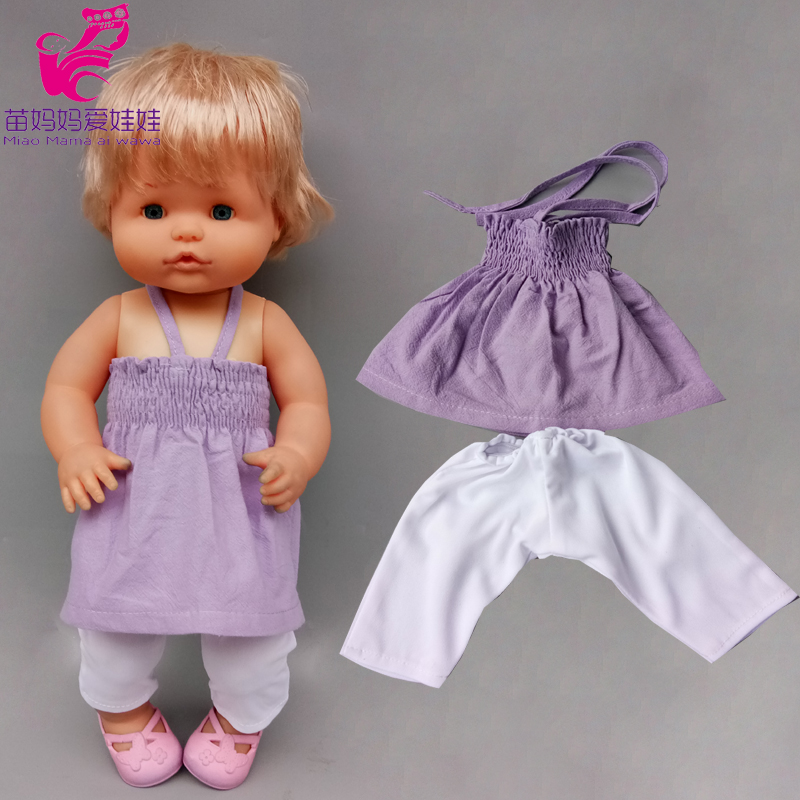 17 inch baby <font><b>doll</b></font> <font><b>clothes</b></font> strap vest for <font><b>40</b></font> <font><b>cm</b></font> Nenuco <font><b>doll</b></font> Ropa y su Hermanita toys play house accessories image