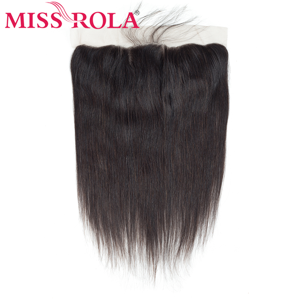 Miss Rola Lace Frontal 13x4 Natural Color Remy Hair Peruvian Human Hair Ear To Ear Straight Hair Extension