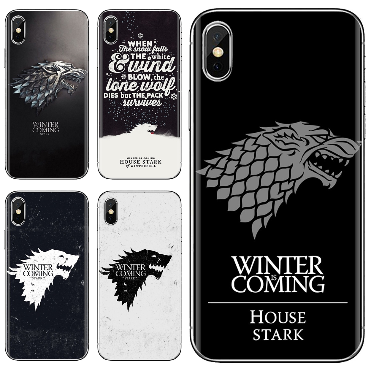 Cheap Silicone Phone Case Game Of Thrones House Stark Wallpaper