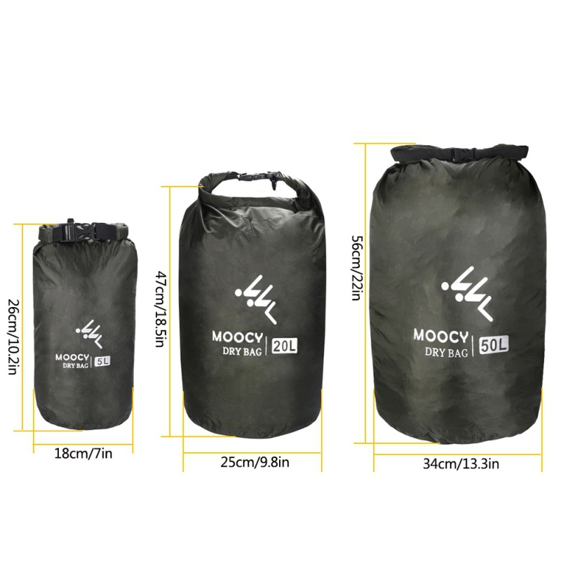 5//10//15//20L Dry Bag Sack Waterproof Dry Gear Bag Boating Kayaking Fishing