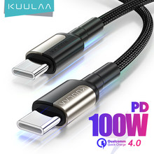 KUULAA USB C zu USB Typ C Kabel PD 100W 60W Schnellladekabel für Samsung MacBook iPad Schnellladung 4.0 USBC Kabelzubehör für Mobiltelefone