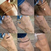 Vintage Boho Anklets Ankle-Bracelet Foot-Jewelry Chain Arrow-Charm Female Gold Fashion