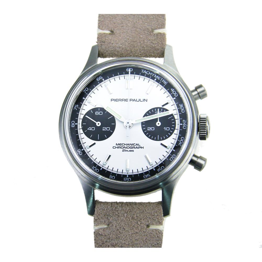MERKUR FOD Pierre Paulin TianJin Movement 1963 Chronograph Mechanical Mens Pilot Watch Swan Neck Miliary Pilot B-uhr Flieger
