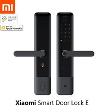חדש Xiaomi Mijia חכם דלת מנעול E טביעות אצבע סיסמא Bluetooth נעילה לזהות מעורר עבודה Mi בית App בקרת עם פעמון