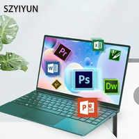 I7-6500U мини металлический ноутбук 14 ''тонкий модный ретро темно-зеленый портативный игровой пк компьютер Бизнес рабочий ноутбук студенческий...