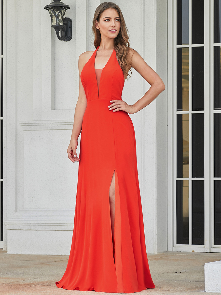 Party-Gowns Evening-Dresses Lange Formal Long Ever Pretty Sleeveless Simple EP07247OR
