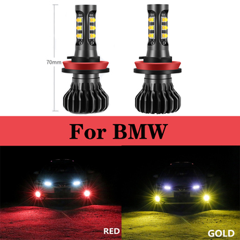 2x 12-24V Car Fog Bulbs Headlight H11 H8 H9 LED For BMW E46 E39 E90 E60 E36 F30 F10 E30 E34 X5 M F20 X3 E87 E70 E92 X1 M3 X6 E38 image