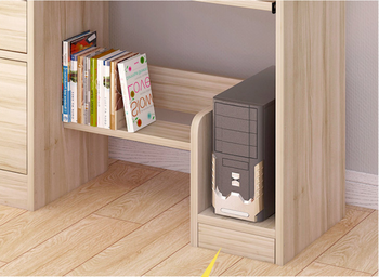 Fashion desktop computer office desk children writing desk with bookcase combination learning table home furniture