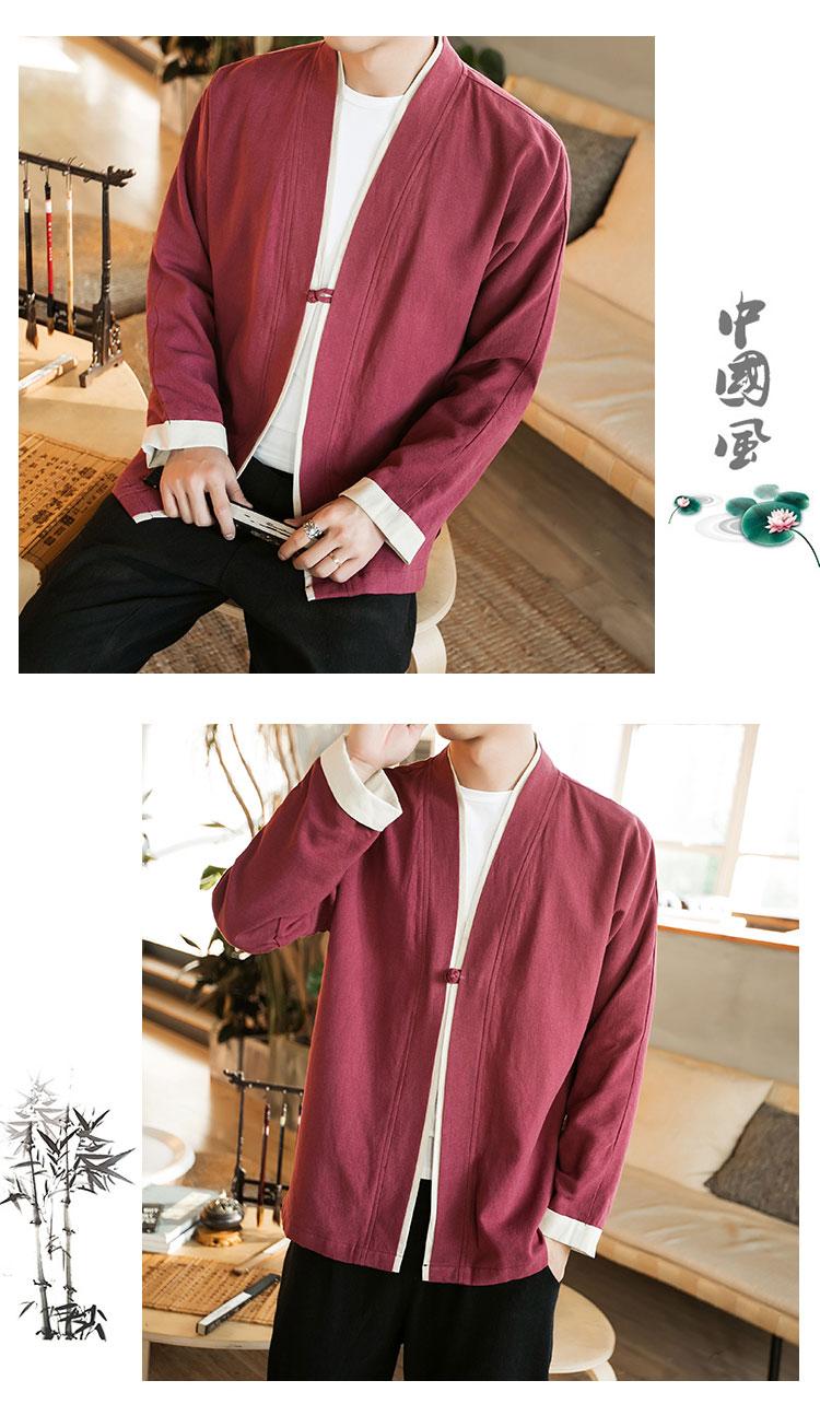 Sinicism Store Men Patchwork Shirt Streetwear Short Sleeve 19 Summer Harajuku Vintage Kimono Shirts Black Fashion Open Stitch 9
