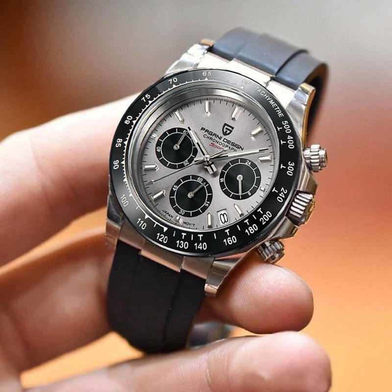 Daytona Chronograph Wristwatch Clock Silica-Gel Date Pagani-Design Top-Brand Waterproof