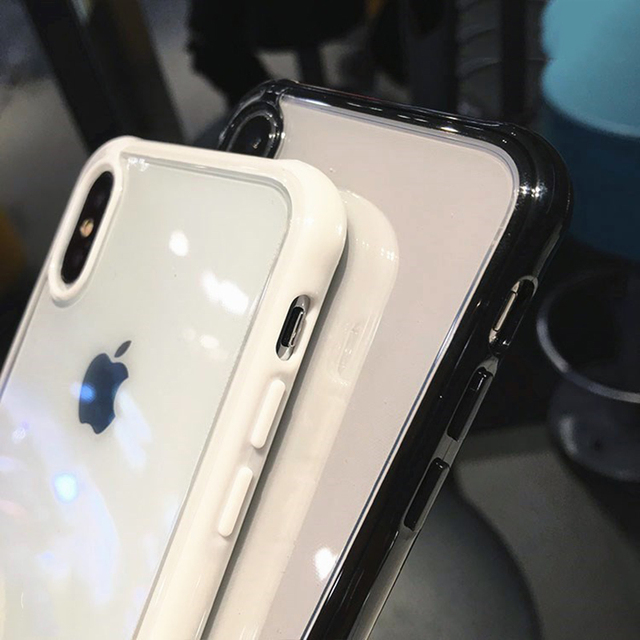 Transparent silicone protective case for iPhone 11