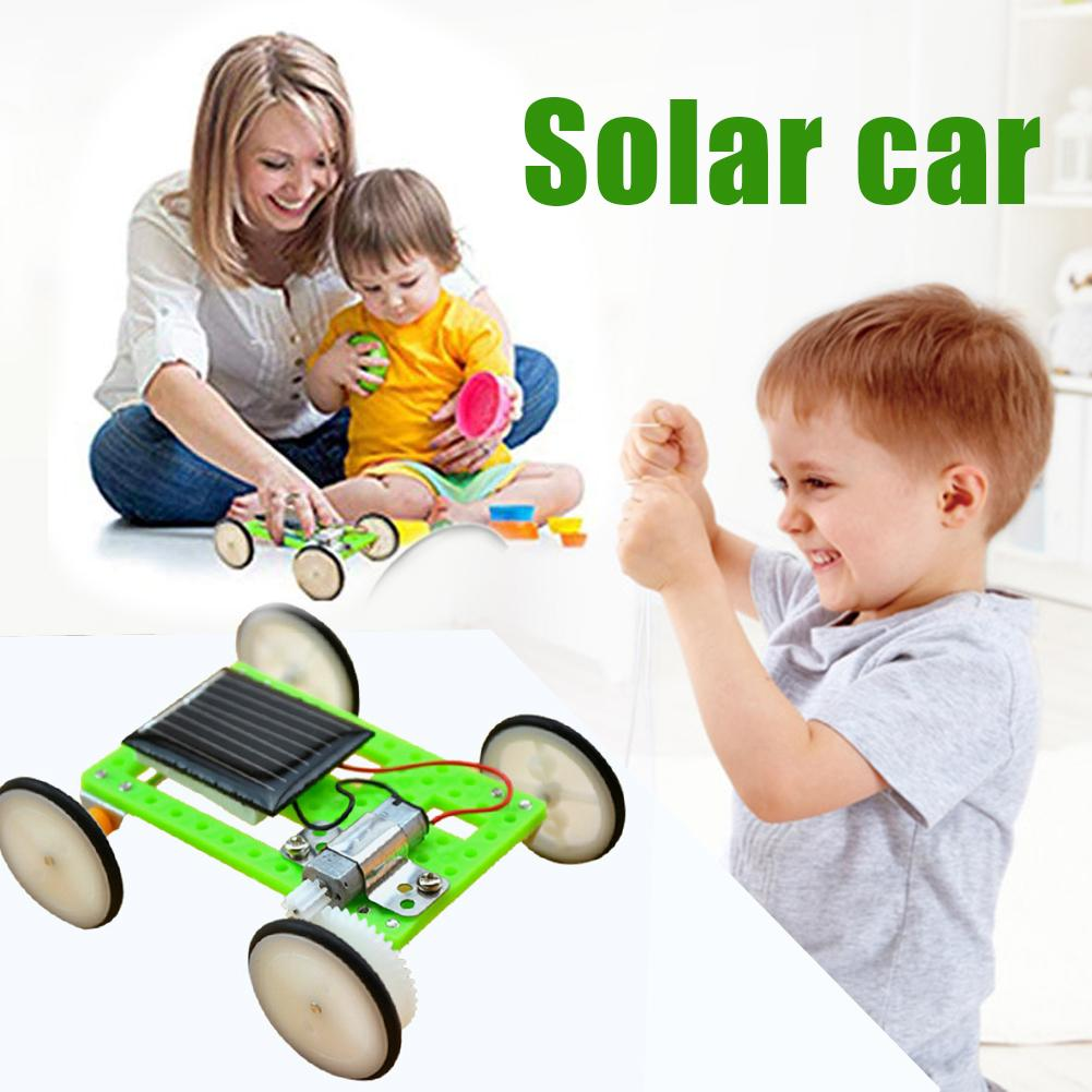 Children DIY Assembly Solar Power Vehicle Kid Physics Experiment Student Early Education Learning Toys