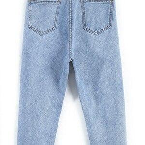 Image 5 - جينز للنساء لربيع 2020 النسخة الكورية الجديدة أزياء نسائية عالية الخصر أنيقة عالية الجودة جيب مستقيم بسحاب زر واحد