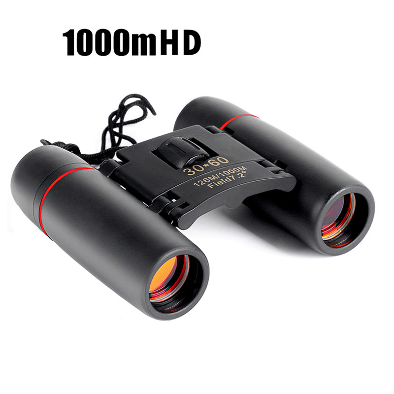 1000m Zoom Telescope 30x60 Folding Binoculars with Low Light Night Vision for outdoor bird watching travelling hunting camping image