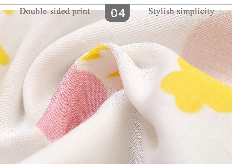 Купить с кэшбэком Cartoon cotton children's back towel four layers of gauze baby sweat towel children's outdoor sports towel