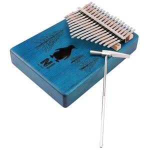 17 клавиш калимба Пингвин большой палец пианино из красного дерева палец Пианино музыкальный инструмент с тюнером молоток коробка для хране...