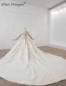 Image 3 - יוקרה גבישי תחרה כדור שמלות חתונה שמלות לנשים הסעודית נסיכה אלגנטית כבוי כתף שמלות כלה 2020