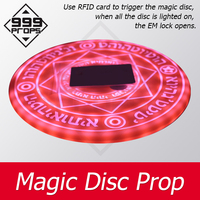 999PROPS Magic Disc Prop Escape Room game use RFID card to trigger magic array be bright gradually