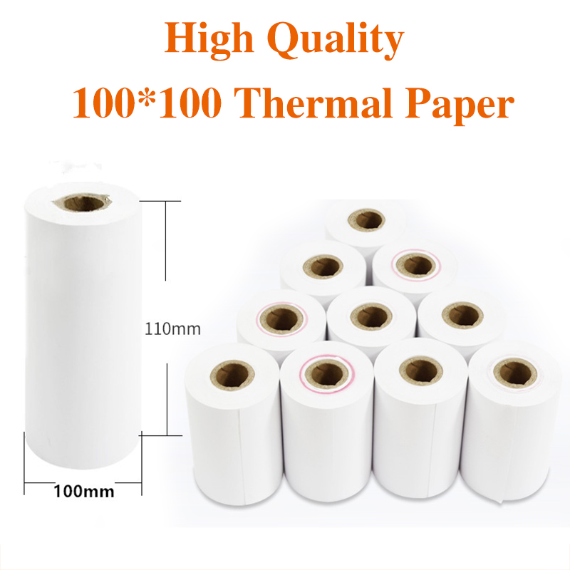58-112mm Thermal Receipt Paper Rolls Photo Paper Portable Printer Paper Cash Register Receipt Paper  (10 Rolls Per Case)