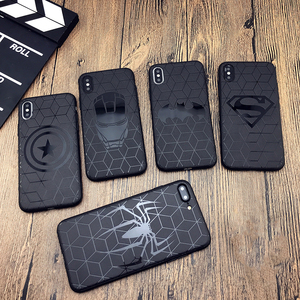 Marvel case for iphone X 11 PRO XS MAX XR 8 7 6 6s plus phone cover soft matte 3d silicon iron Man Spiderman Avengers coque CASE(China)