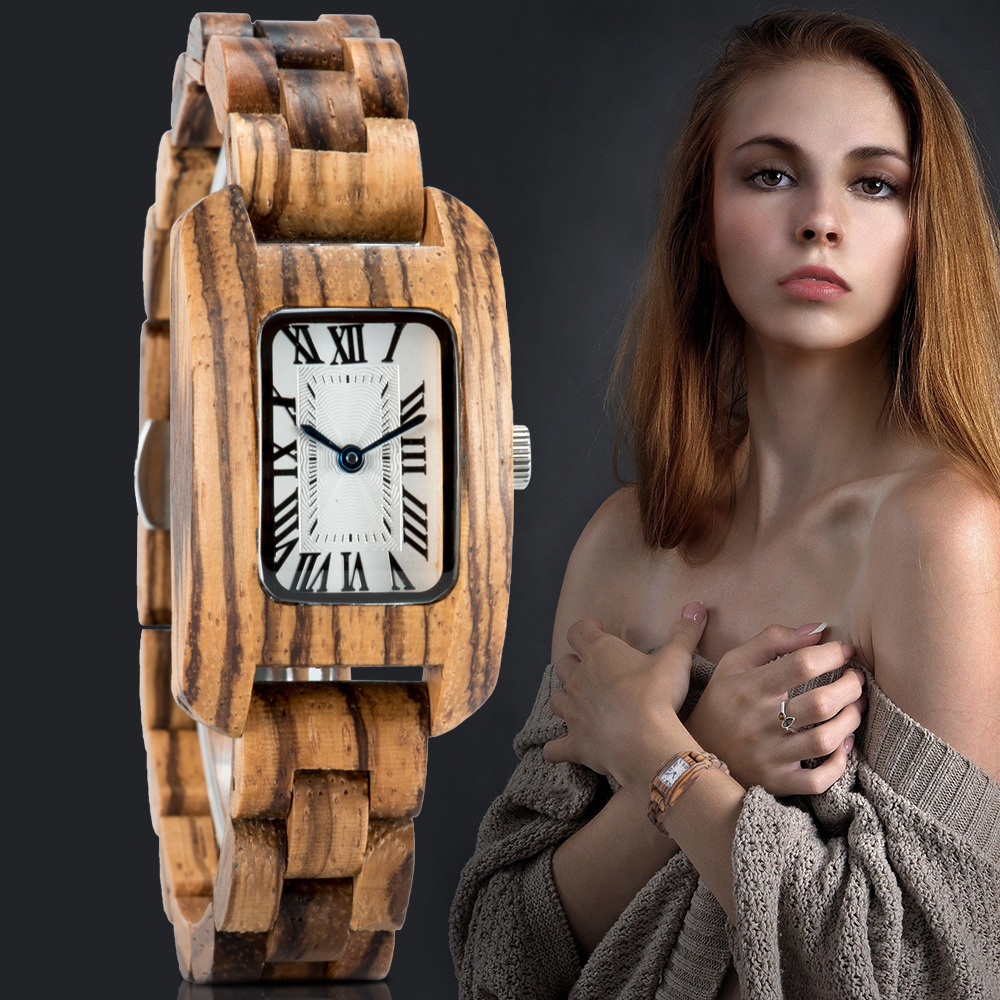 Reloj Mujer BOBO BIRD Women Wood Watch Luxury Brand Watch Simple Quartz Ladies Wristwatch Female Watches Clock часы женские