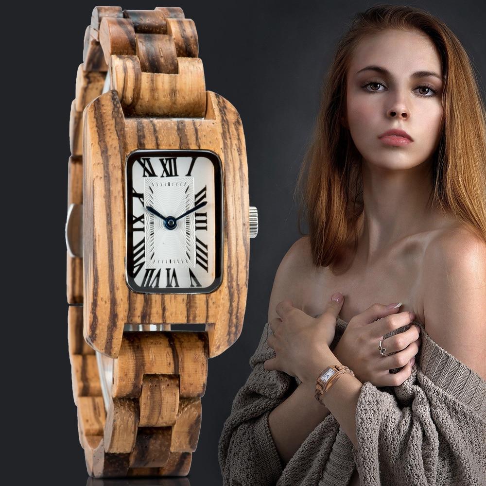 Reloj Mujer BOBO BIRD Women Wood Watch Luxury Brand Watch Simple Quartz Ladies Wristwatch Female Watches Clock часы женские