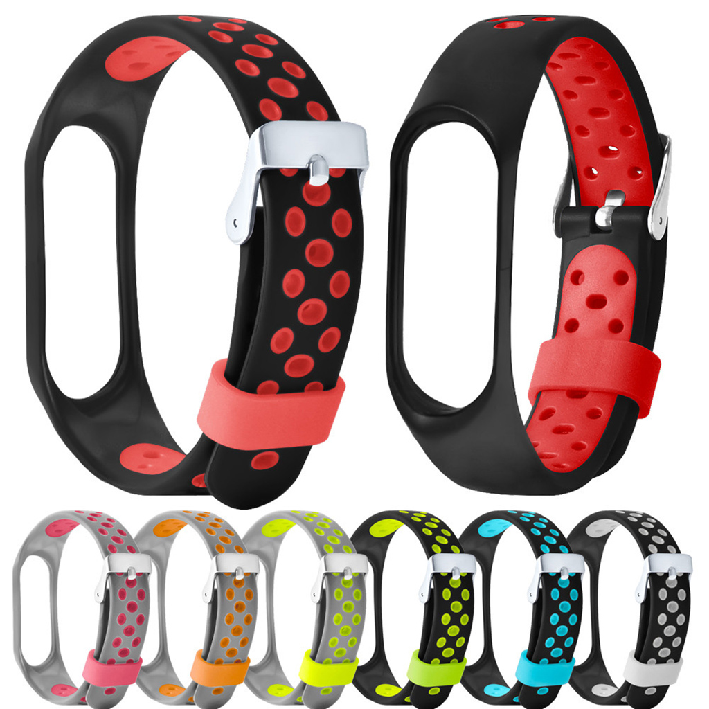 Lightweight Silicone Sport Watch Bands Bracelet For Xiaomi Mi Band 4 Replacement Ventilate Sport Soft Wrist Strap Wristband