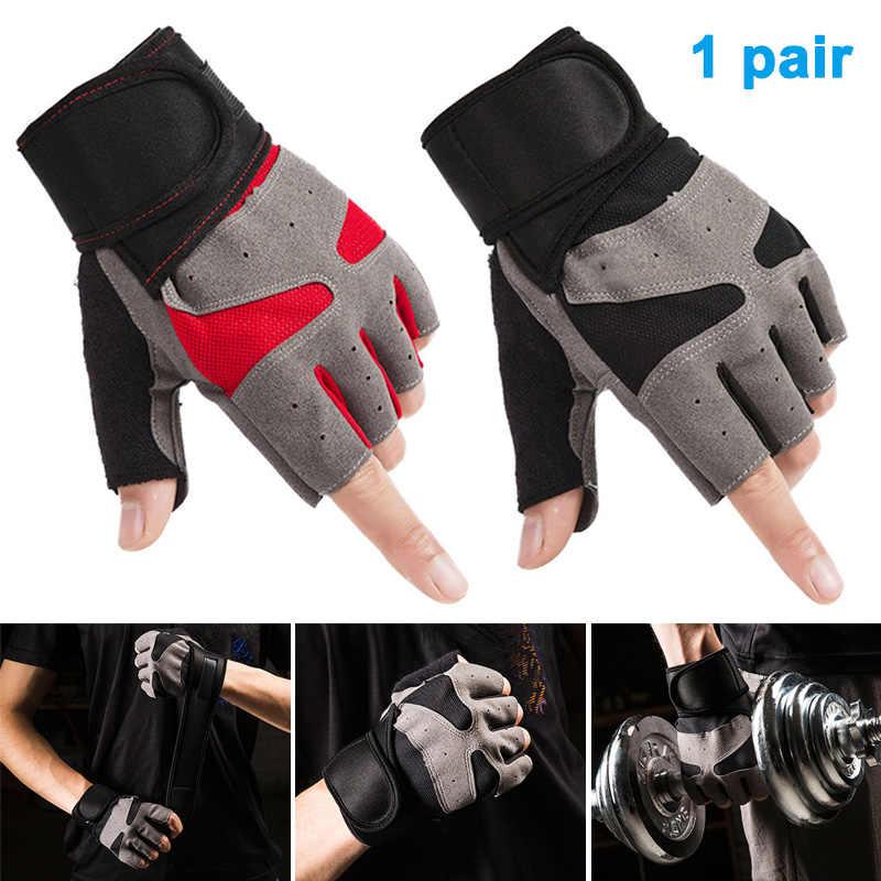 Podnoszenie ciężarów rękawice pół palca oddychające Fitness kulturystyka siłownia rękawiczki Health99