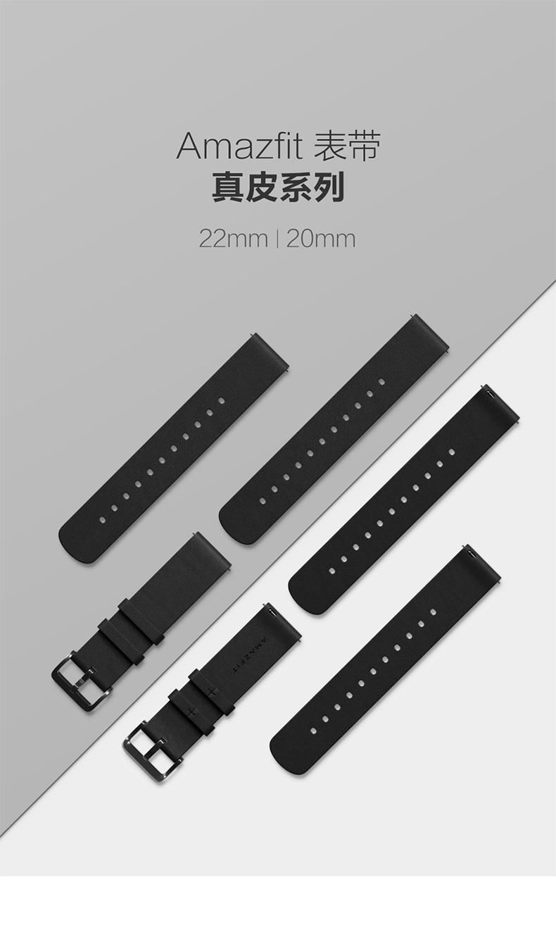 Pulseira de relógio de couro genuíno original