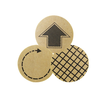 90pcs/pack Packing Sealing Label Round Arrow Plaid Pattern Cowhide Sealing Stickers Adhesive Sticker Stationery Supplies 9mm round packing ce regulated self adhesive label stickers black 192 x 15 pack