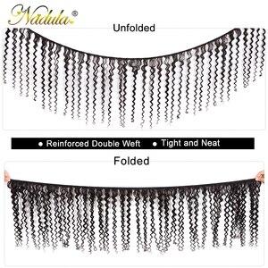 Image 2 - Nadula saç brezilyalı kıvırcık saç örgü 3 adet/4 adet brezilyalı Remy saç demetleri anlaşma 100% kıvırcık insan saçı uzatma 8 26 inç