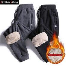 2019 yeni kış sıcak koşu pantolonları erkek 5XL 6XL 7XL 8XL büyük boy pantolon moda rahat kalınlaşmak Sweatpants erkek marka