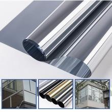 300*50 см Водонепроницаемая оконная пленка одностороннее зеркало серебро изоляционные наклейки УФ-отражающие окно конфиденциальности Тонирующая пленка для украшения дома