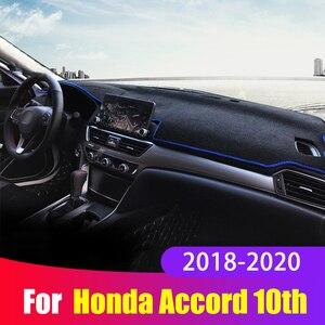 Image 1 - Tapis de couverture de tableau de bord de voiture éviter la lumière tapis de tableau de bord Anti UV pour Honda Accord X 10th 2018 2019 2020 accessoires