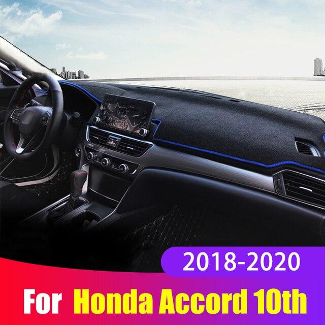 Tapis de couverture de tableau de bord de voiture éviter la lumière tapis de tableau de bord Anti UV pour Honda Accord X 10th 2018 2019 2020 accessoires