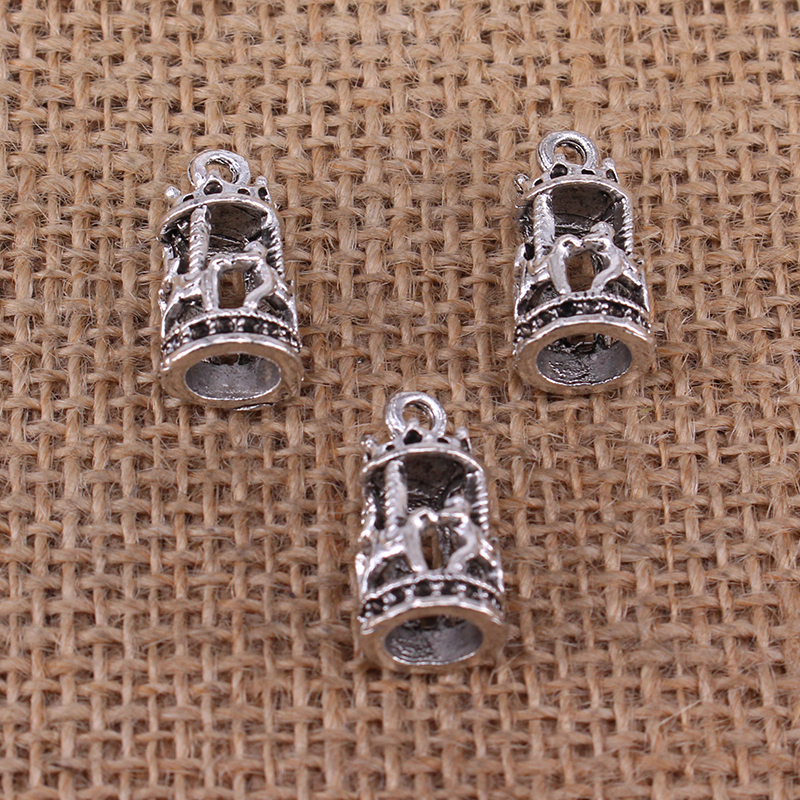 4pcs Carousel Horse Merry go Round Charms 21x10 Antique Silver Color Pendant for DIY Jewelry Making Findings Handmade Craft 3803