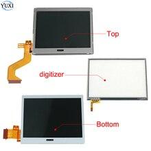 YuXi Display LCD inferiore/superiore inferiore e sostituzione del pannello del digitalizzatore Touch Screen per nintendo DS Lite per Console NDSL
