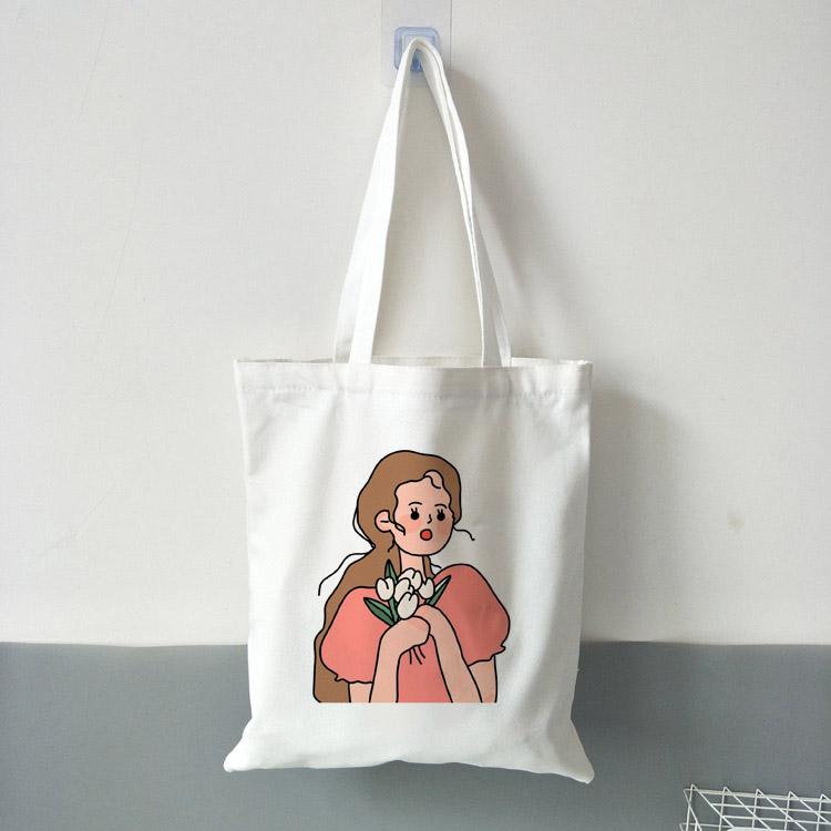 Tote bag imprimé Femme illustration - Sac en toile Créer Son T Shirt