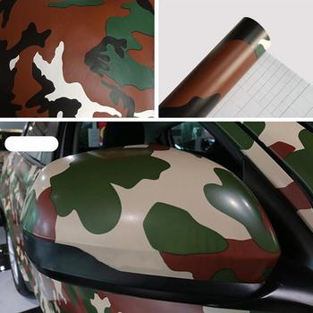 1PCS Film for Cars Woodland Camouflage Camo Offroad Car Sticker Decal Film Air Release Roll vinyl wrap sticker Car Accessories image